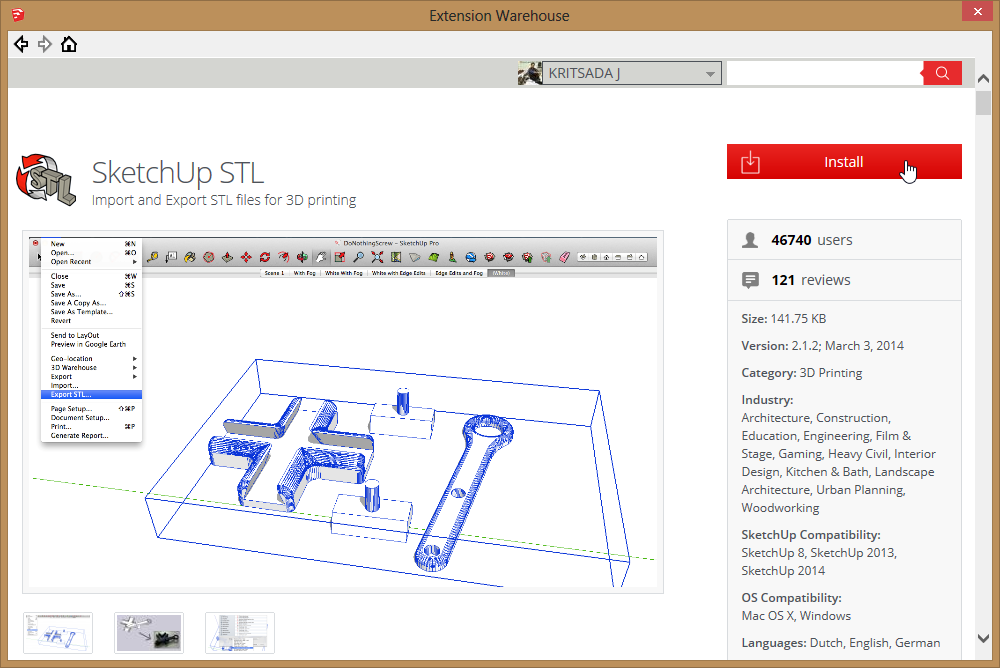 3d sketchup for 3d printer ep 1 where knowledge for Stl file sketchup