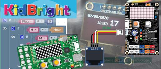 [openKB] [kidBright] [kidBright IDE] นาฬิกาและจอ OLED